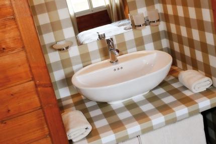 Waschnische im Schlafzimmer – Ferienhäuser Leitner – Ferienhaus am Millstätter See – Familienurlaub in Kärnten am See