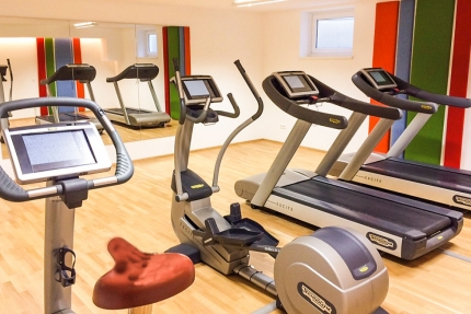 Fitnessraum im Schwesterhotel Sporthotel ROYAL X – Ferienhäuser Leitner – Familienurlaub in Kärnten am See – Ferienhaus in Kärnten am See